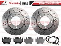 FOR PORSCHE BOXSTER CAYMAN 986 987 FRONT GENUINE BREMBO BRAKE DISCS PADS 318mm
