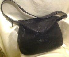 grand sac à main femme rétro chic en cuir noir intense marque JODHPUR Paris