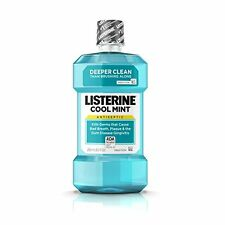 2 Pack Listerine Antiseptic Mouthwash Cool Mint 8.5oz Each