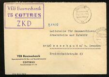 DDR-DIENST ZKD-BRIEF VEB BAU COTTBUS 19.11.1964 nach Cossebaude (953468)