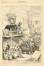 Political Cartoon, The Political Situation In France, Vintage 1873 Antique Print