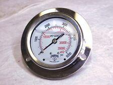 "Winters SS Analog Pressure Gauge 0-5000 psi 2.5"" Dial Dia Glycerin Filled PFB"