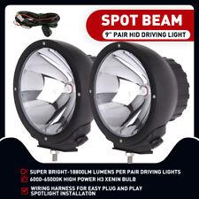 2PCS 9 inch HID Driving Lights Spotlights Spot H3 Xenon Lamp Aluminuim Housing