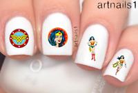 Wonder Woman Nail Cosplay Art Water Decals Stickers Manicure Salon Polish Mani