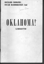 Oklahoma Libretto