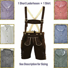 Authentic Lederhosen Oktoberfest Trachten German Bavarian Short Package/Set LW51