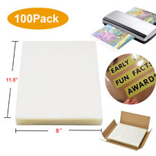 100thermal Laminating Pouches 3 Mil Heat Seal A4 Letter 9x115 For Photofiles