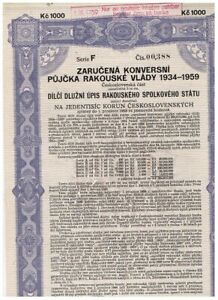 Austrian Government...Loan 1934-1959, Wien 1934, 1.000 Kronen, ungelocht,