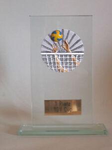 """Glas-Pokal """"Volleyball"""" mit Wunschgravur"""