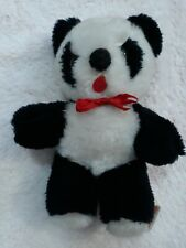 "Ling Ling Black & White Panda Bear Plush 7"" Tall Russ. Berrie & Co"