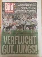 BILD Zeitung 3.07.2016 - DEUTSCHLAND - ITALIEN 7:6 - Europameisterschaft 2016
