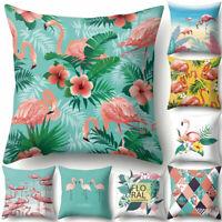 AG_ Tropical Flamingo Throw Pillow Case Waist Cushion Cover Cafe Home Decor Prop