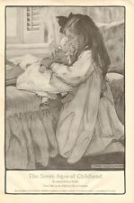 Jessie Willcox Smith, The Seven Ages Of Childhood, Vintage 1909 Antique Print