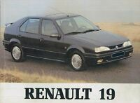 1992 RENAULT 19 BETRIEBSANLEITUNG HANDBUCH BORDBUCH OWNER'S MANUAL DEUTSCH.
