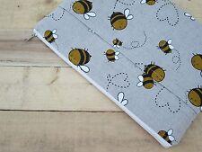Bees MacBook Air/Pro 13 sleeve, case, cover, handmade, linen