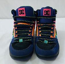 DC Rebound Hi Top Women's Size 6 Skateboarding Shoes Neon Pink Black 302164 EUC