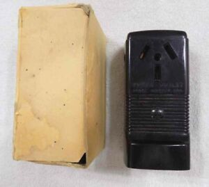Vintage Hubbell 7990 Surface Mount 50 AMP 3-Wire Power Outlet - BRAND NEW