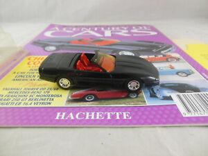 """Hachette no. 50 Chevrolet Corvette Black """"A Century of Cars"""" 1:43 Scale Solido"""