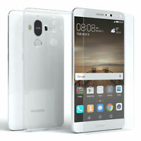 EAZY CASE Huawei Mate 9 Hülle Silikon Handy Schutzhülle + Schutzglas 9H Folie