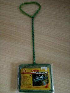 Sera Fangnetz 12 x 10cm, grobmaschig, grün, Fischnetz, Kescher mit Griff L 25 cm