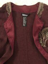 DKNY Donna Karan NY Embellished Detail Jeweled Neck Sweater Cardigan XS-S