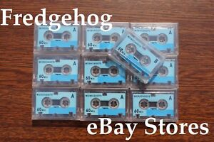 10 x AUDIO MICRO TAPES / CASSETTES FOR DICTAPHONES / ANSWER PHONES / ANSAPHONES