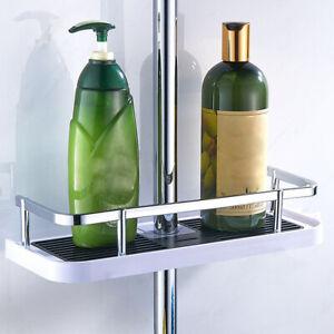 Bathroom Pole Shelf Shower Storage Caddy Rack Organiser Tray Holder Accessorys