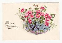 *** Composition Florale _ Heureux Anniversaire *** Fantaisie +/- 1930 - CPA 0545