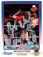 Boxer Champ Orlando Canizales Hall of Fame 1991 Kayo SIGNED CARD AUTOGRAPHED