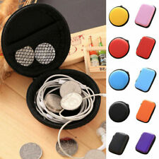 Portable Storage Box Carry Headphone Case Headset Earphone Bag Collector Pouch
