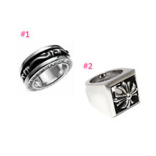 Authentic [Chrome Hearts] Spinner Scroll / CH Plus Letterblock Ring (Choose one)