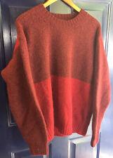 DIESEL Men's Pullover Red / Maroon Block Sweater Wool Blend Men's Medium EUC