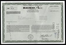Nevada: Reno Air - Stock Purchase Warrant, 10,000 shares