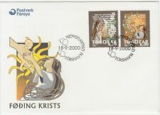 Faroe Islands 2000 Christmas, Prophecy, Hope, Light, First Day Cover