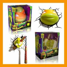 3D FX LED WALL DECO LIGHT-TEENAGE MUTANT TURTLES (TMNT) MICHELANGELO FACE/WEAPON