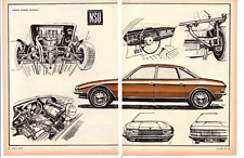 1968 NSU Ro 80 ~ ORIGINAL 4-PAGE ARTICLE / AD