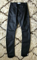 NEW One Teaspoon Scallywags Sz 28 Waxed Black Pant Skinny Ankle Jeans Stretch