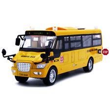 Novelty School Bus Alloy Diecast Model Cars Sound&Light toys Children's gift New
