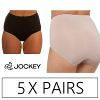 5 x JOCKEY NO RIDE UP MICRO FULL BRIEF Underwear Undies - Black / Dusk