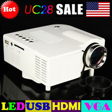 UC28 HDMI Micro AV LED Digital Mini Video Game Projector Multimedia player White