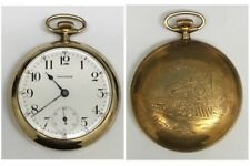 Antique American Waltham Watch Co Pocket Watch 15j 18s Railroad Engraved Case