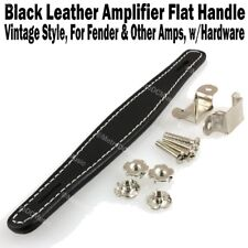 Black Vintage Flat Leather Amplifier Handle for Fender & Other Amp Hardware NEW