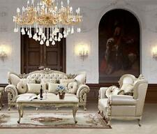 Homey Design HD-32 Antique Pearl Sofa and Loveseat Living Room Set 2Pcs