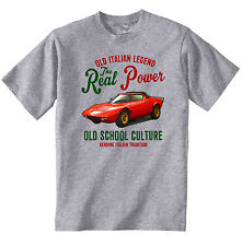 VINTAGE ITALIAN CAR LANCIA STRATOS - NEW COTTON T-SHIRT