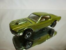 HOT WHEELS RED LINE 1:64 - CUSTOM MUSTANG 1968  green  COLOR  - GOOD CONDITION