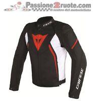 Veste de moto Dainese Avro d2 Tex noir blanc rosso taglia 44