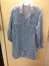 $88 Philosophy Tencel Blue Soft Denim Look Shirt Dress Tunic Top Button XL $88.