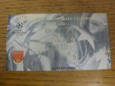 05/12/2000 billet: ARSENAL v BAYERN MUNICH [Ligue des Champions]. merci pour afficher