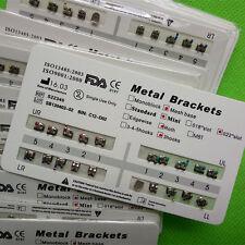 100 X Dental Orthodontic Metal Brackets brace Mini Roth 022 Slot 3 Hooks Tooth