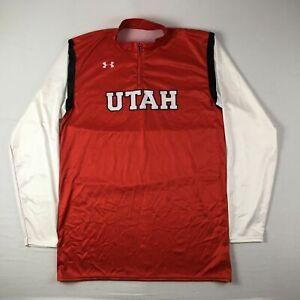 Utah Utes Under Armour Pullover Men's Red Used